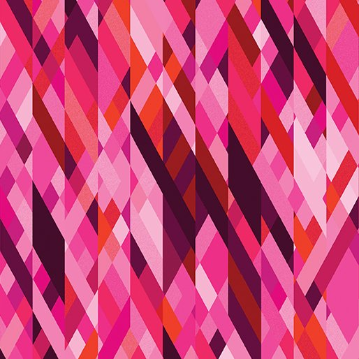 Color Collage Pink Sunburst