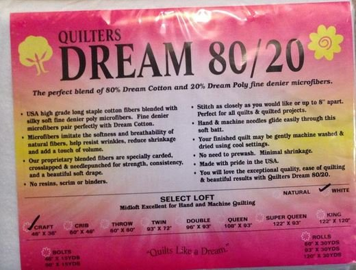 Dream 80/20 Craft - White 46 x 36