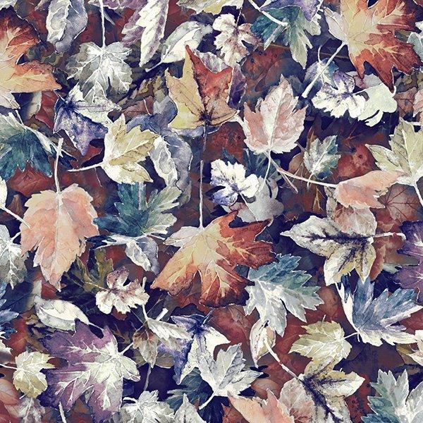 Leaves Run Raisin - Woodland by Hoffman  FabricsWhispers