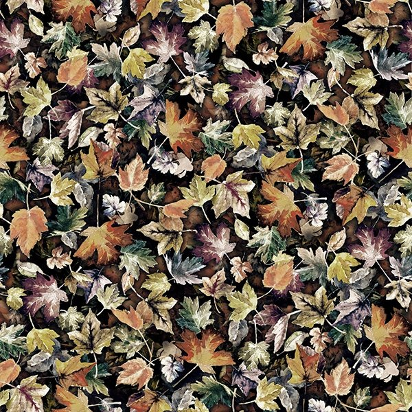Leaves Autumn - Woodland Whispers by Hoffman Fabrics