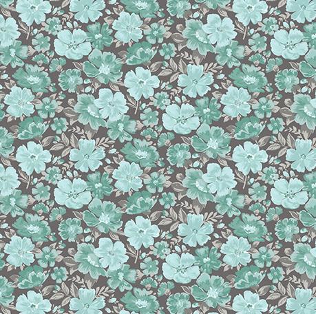 Benartex - Grace - Turquoise/Grey
