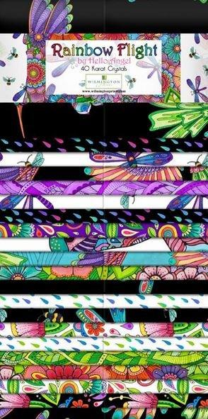Rainbow Flight 2 1/2 strips (40/pk)