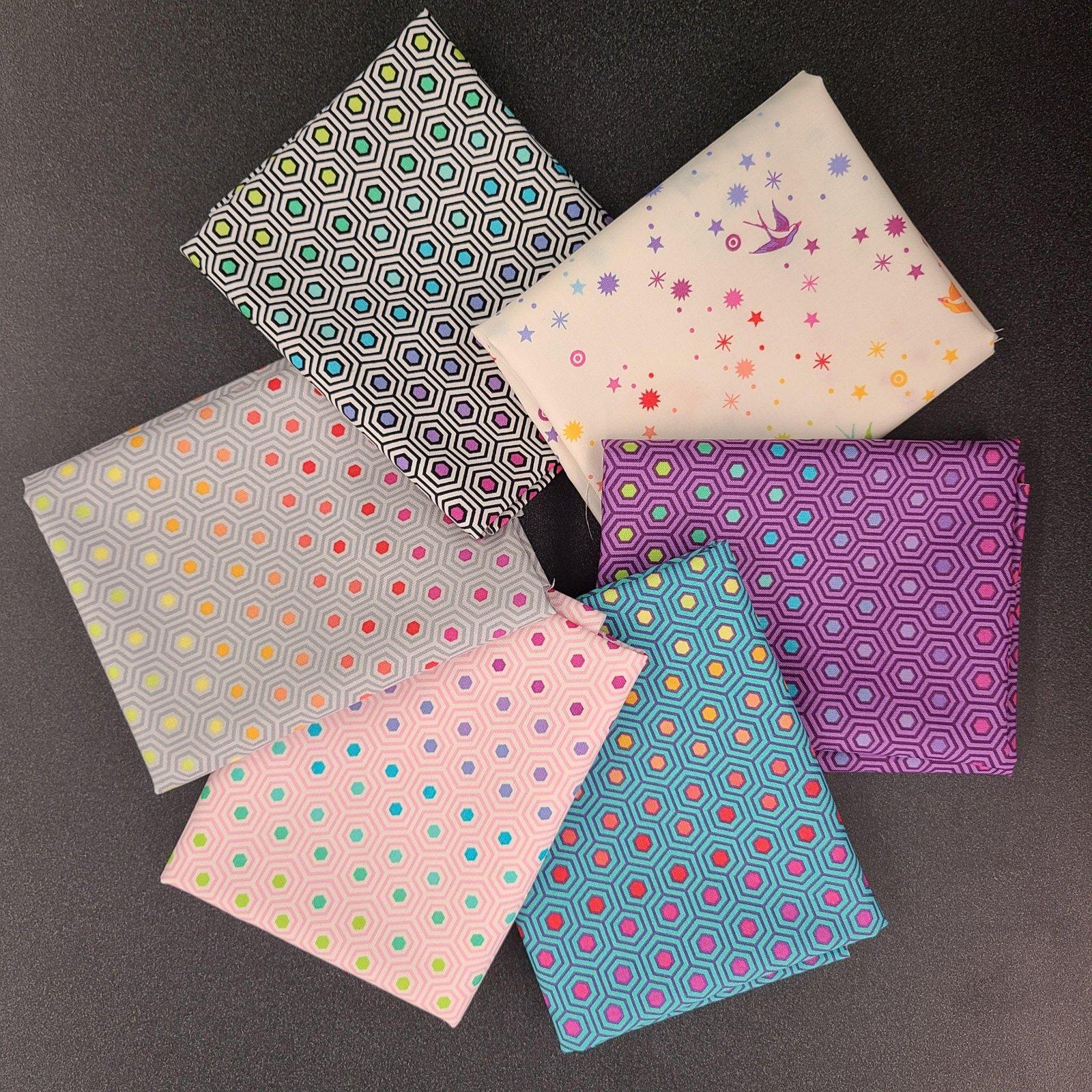 Tula Pink True Colors FQ Bundle - Rainbow (6 pcs)