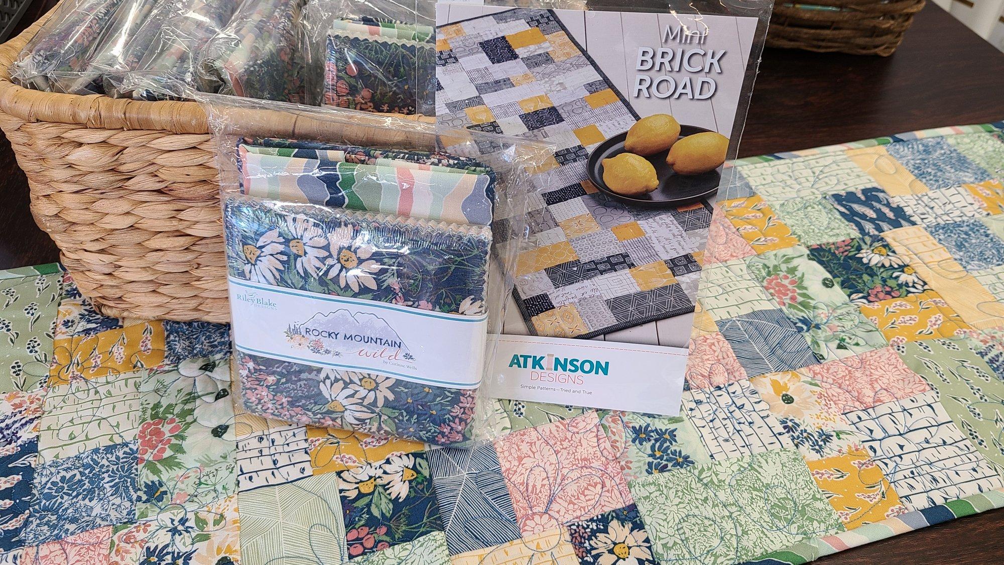 Mini Brick Road Table Runner Fabric Kit