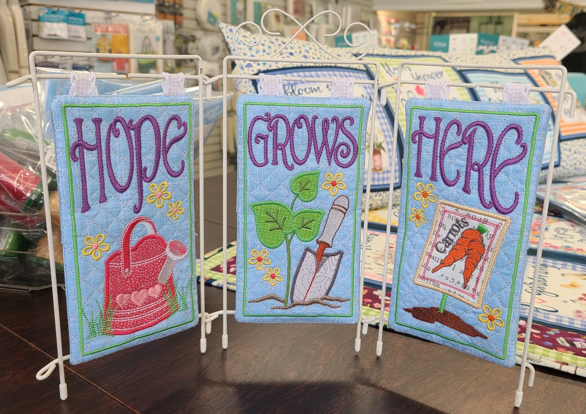 Hope Grows Here Tri-Stand fabric kit