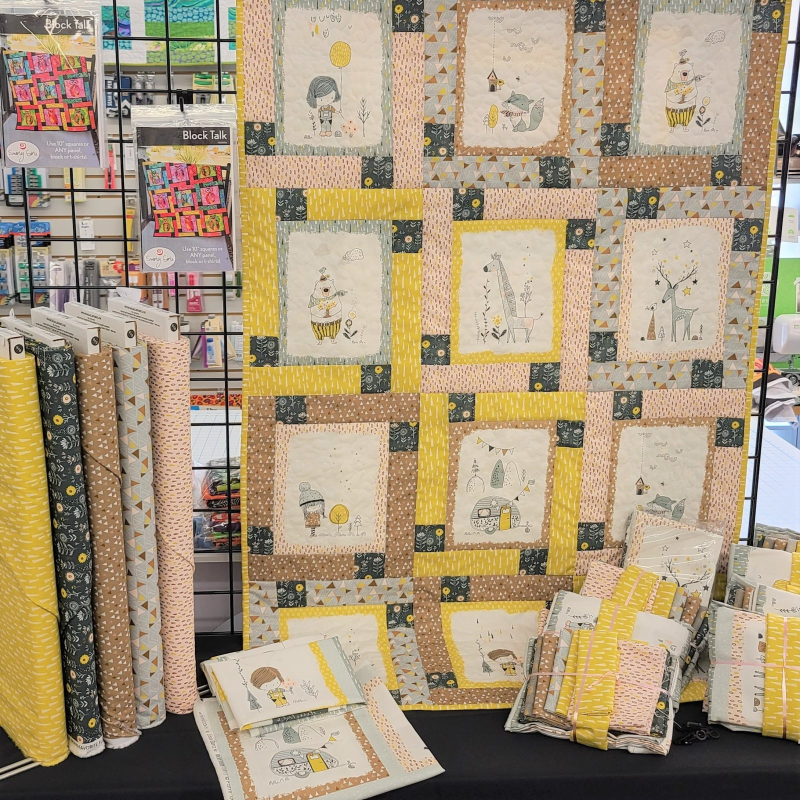 Whimsical Fabric Quilt Kit