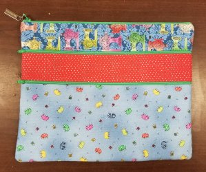 3-zipper bag