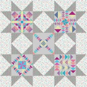 Dandy Days quilt with light background