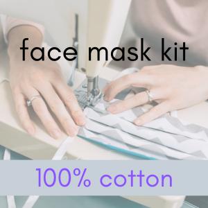 face mask kit 100 percent cotton