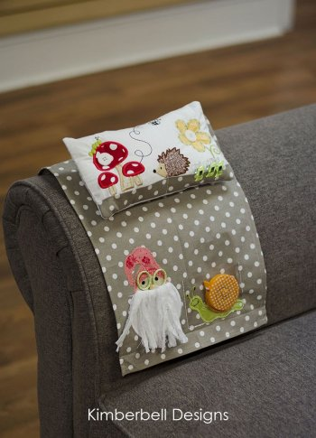 gnome knows sewing caddy and gnome garden pincushion