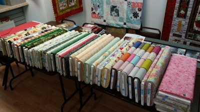 fabric sale table