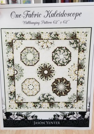 One Fabric Kaleidoscope quilt
