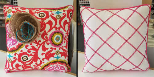 serger pillow front and back