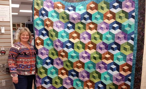 Double Dip quilt by Terry
