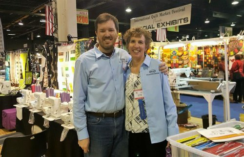 Eric and Lisa at Quilt Show