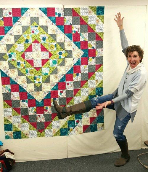 Lisa with Crossroads quilt Dec 2016