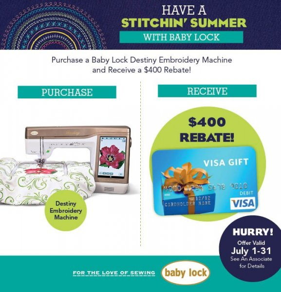 Destiny rebate July 2016