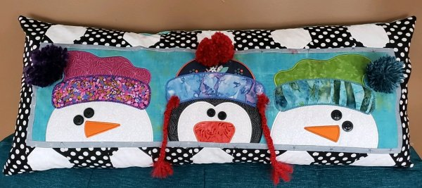 Kimberbell snowman bench pillow