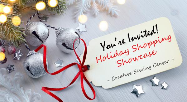 holiday shopping showcase invitation
