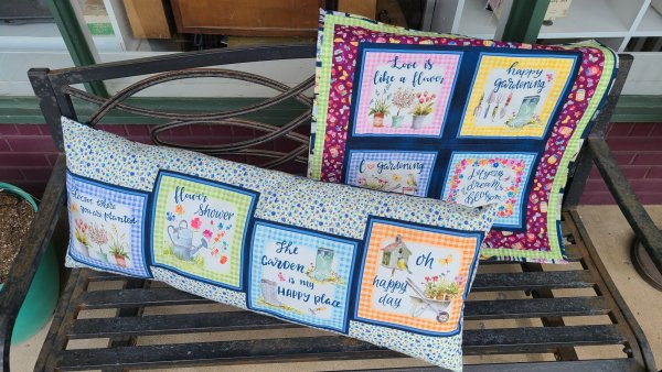 in the garden bench pillow panel options