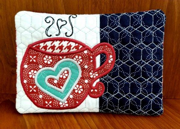 Beginner Embroidery Mug Rug