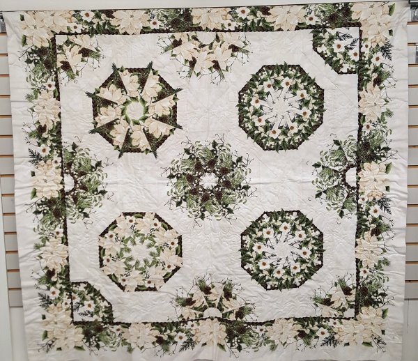one fabric kaleidoscope quilt