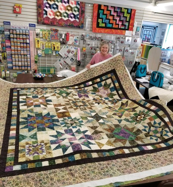 Janell with River Rock quilt