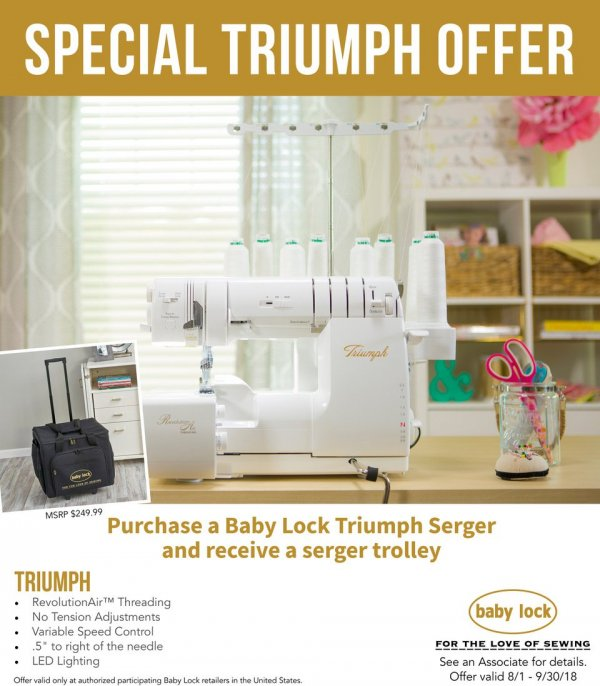 September Specials - Last Days! | Join us for Open Sew