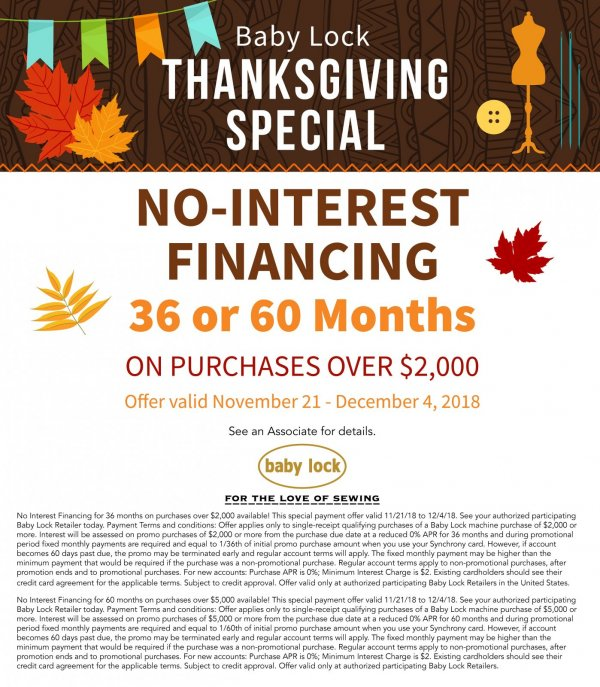 Thanksgiving financing
