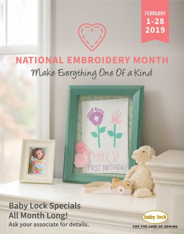 Feb National Embroidery Month