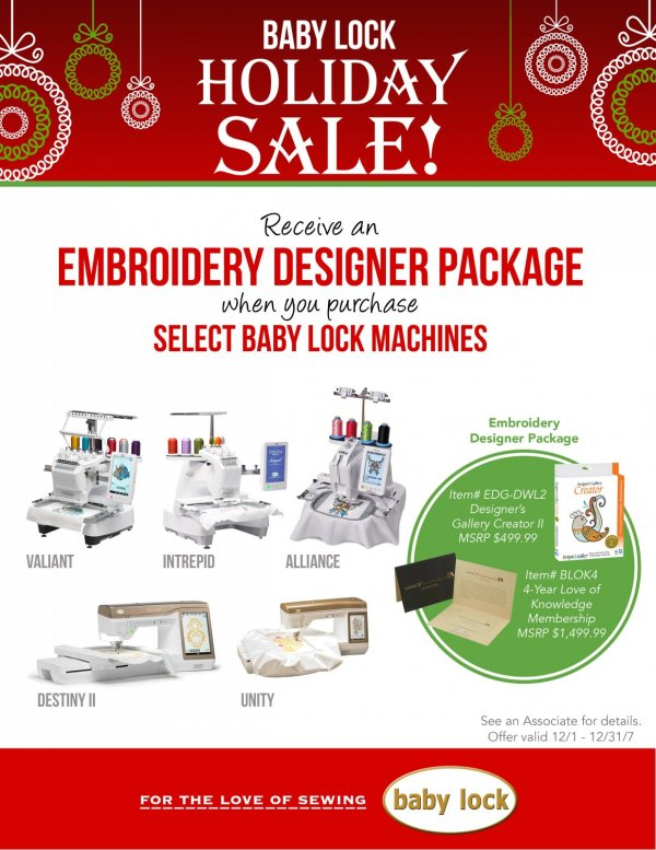 embroidery specials