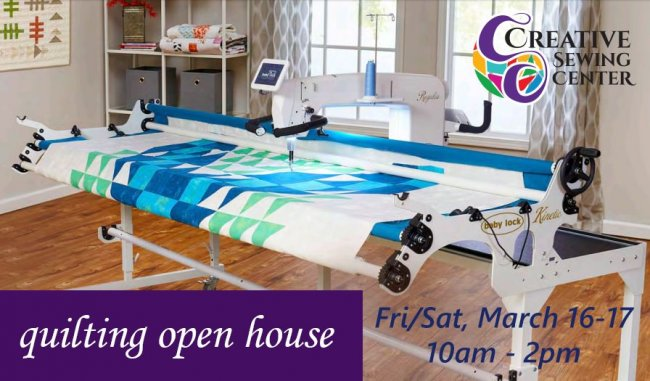 quilting open house