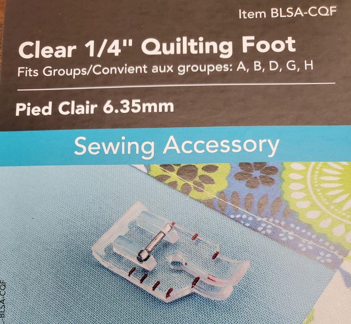 Clear 1/4 Quilting Foot - BLSA