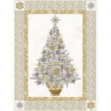 Dreaming of a White Christmas Panel Quilt Kit   Stonehenge White Christmas