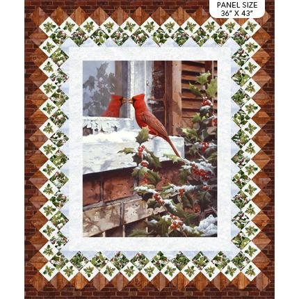 The Cardinal's Visit Quilt Kit | Beach Walk
