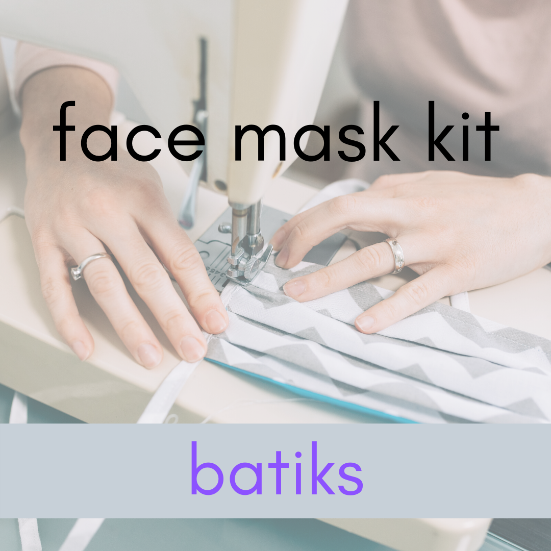 Face Mask Kit - Batik Fabric