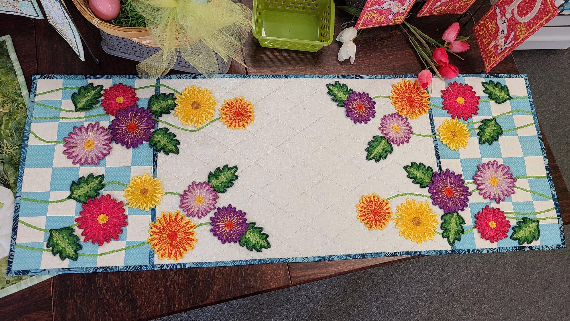 Field of Flowers Table runner- fabric kit