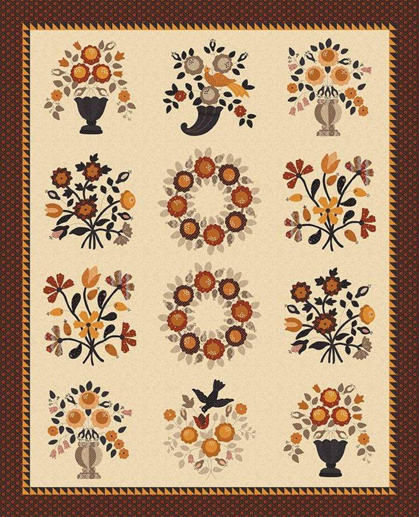 Floral Quilt Kit   Bountiful Autumn