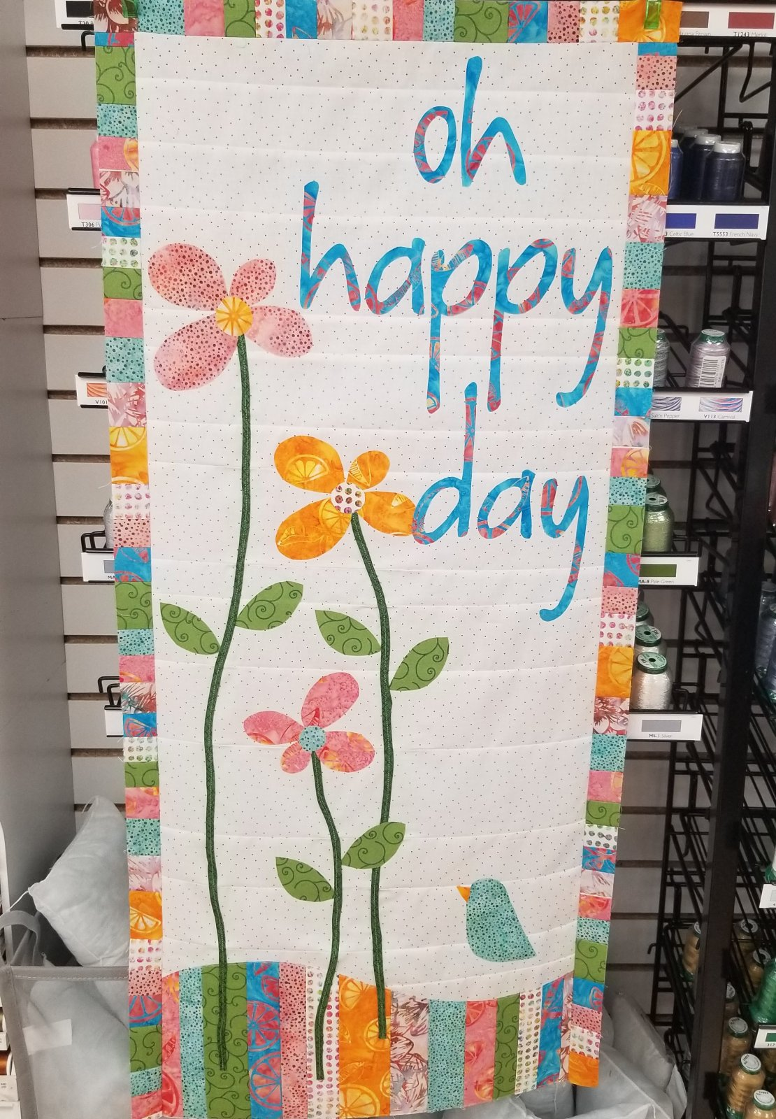 Happy Day wall-hanging kit (pattern and fabric)