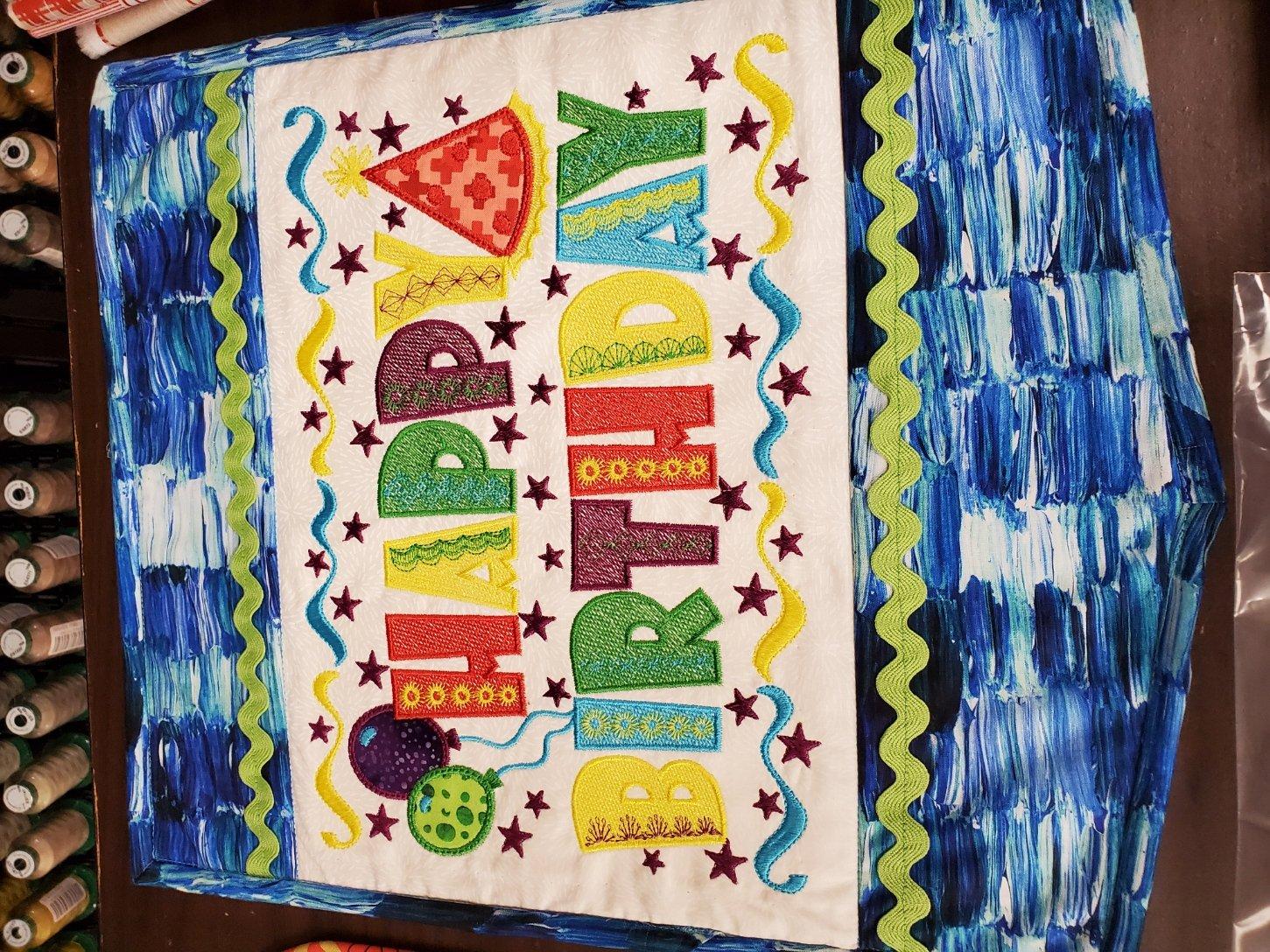 Happy Birthday Table Top Display Fabric Kit