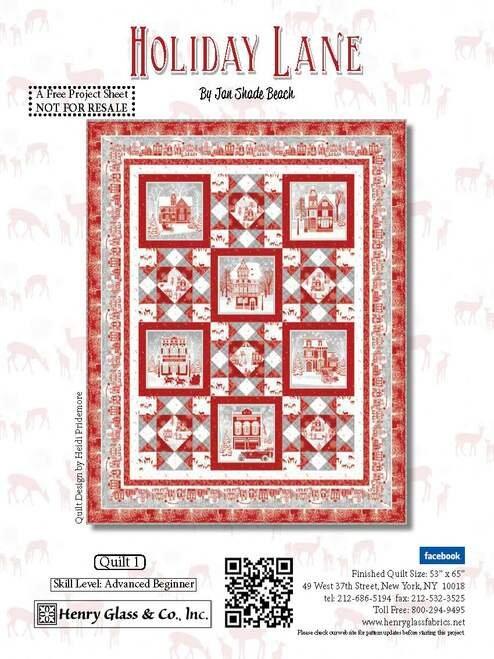 Holiday Lane Quilt Kit | Holiday Lane