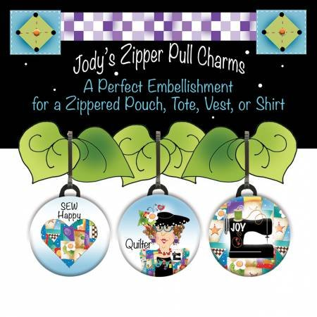 Zipper Pull Charm 3 piece Set for Quilters with RV