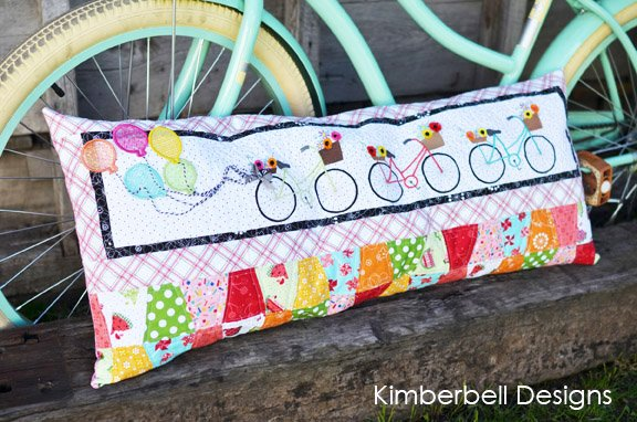 Kimberbell Bicycle Bliss Bench Pillow