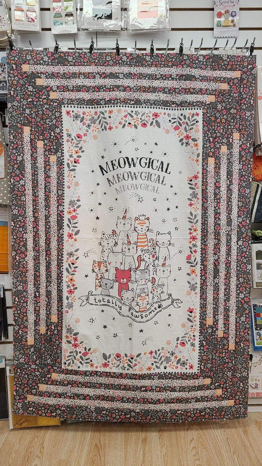 Meowgical Quilt Fabric Kit