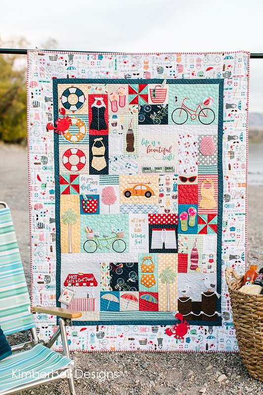 Vintage Boardwalk Fabric Kit (White Border)