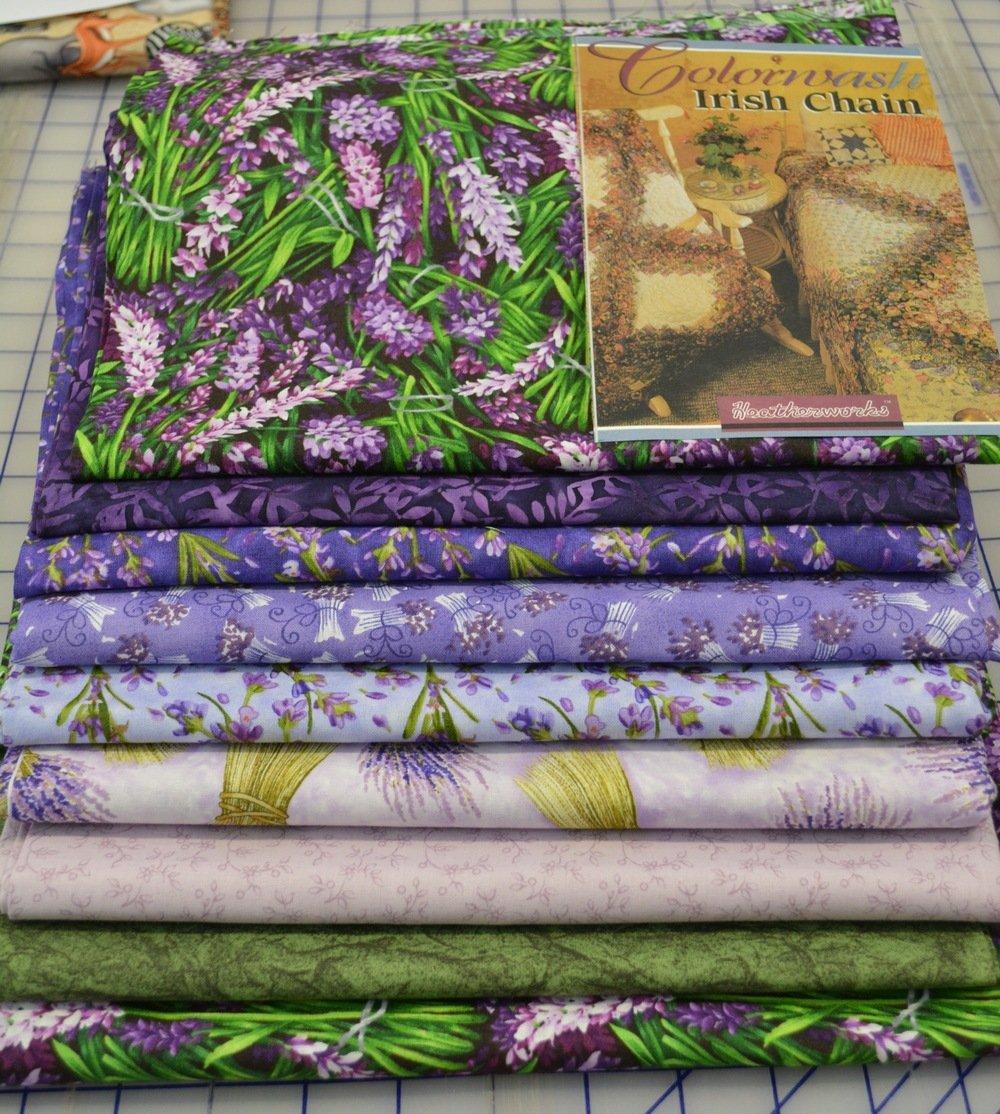 Colorwash Irish Chain Quilt Kit- Lavender Fields