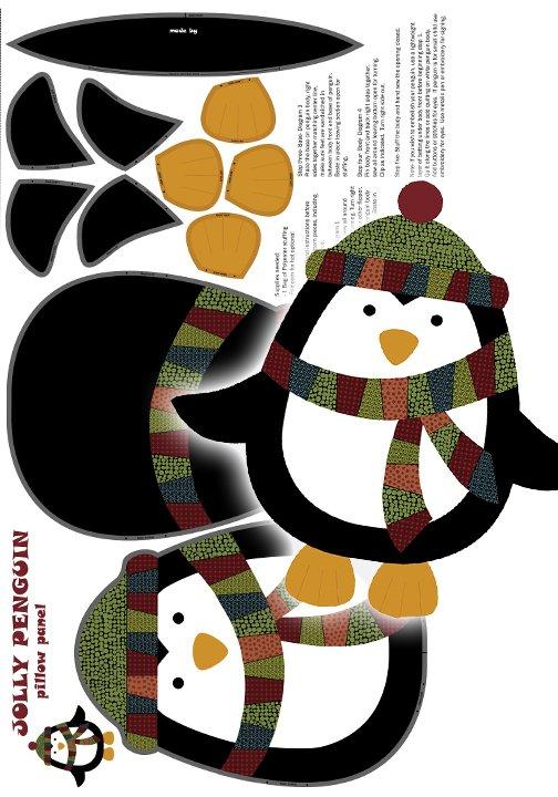 Jolly Penguin Flannel- Panel