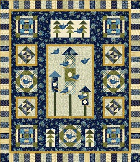 Color it Blue Quilt Kit