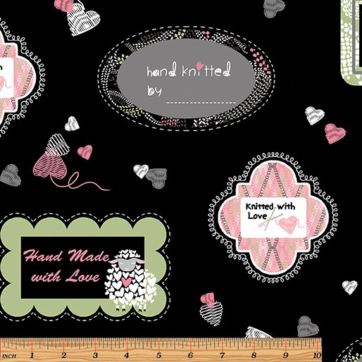 Wool Ewe Be Mine- quilt label