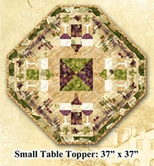 Uncorked Small Table Topper